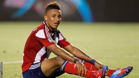 O atacante colombiano Juan Agudelo (23 anos) é mais um dos estrangeiros que atuam pela seleção dos EUA.
