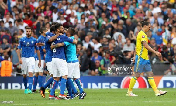 A Suécia que na época ainda contava com Zlatan Ibrahimovic, perdeu seu último jogo contra a Itália (1 x 0), na Eurocopa 2016.