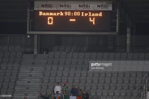 O último embate entre dinamarqueses e irlandeses terminou com a vitória dos irlandeses por 4 a 0.