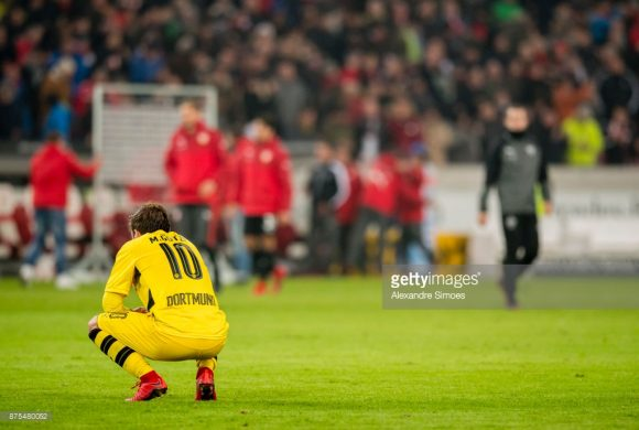 Registrando somente uma vitória nos últimos oitos jogos, o momento vivido pelo Borussia Dortmund na temporada é extremamente drástico.