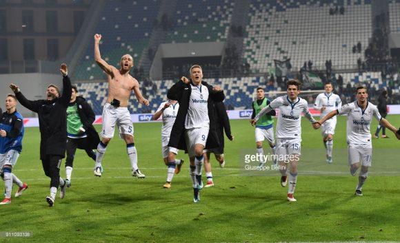 Atalanta bateu o Sassuolo por 3 a 0, no sábado passado.