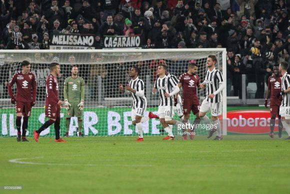 Juventus vence clássico contra o Torino por 2 a 1, pela Copa da Itália.