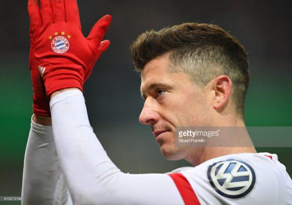 Robert Lewandowski é o artilheiro do Bayern Munique na Bundesliga.