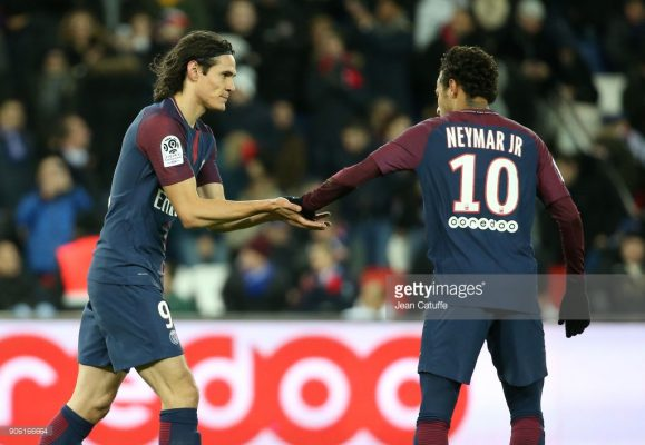 Cavani e Neymar, brigam pela artilharia da Ligue 1.