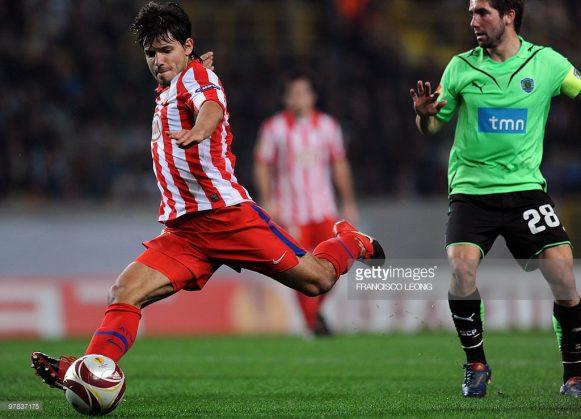 Os dois gols de Sergio Aguero frente o Sporting Lisboa, foram fundamentais para a classificação do ATlético Madrid às quartas de final da Europa League 2009/10.