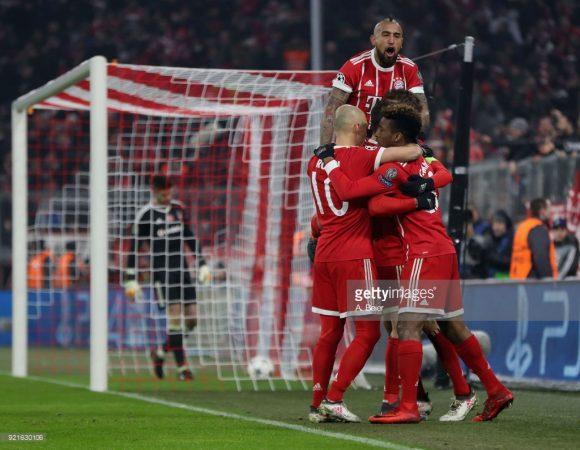 O Bayern Munique venceu todos os jogos disputados na Allianz Arena pela Champions League, com uma média superior a 3 gols por partida.