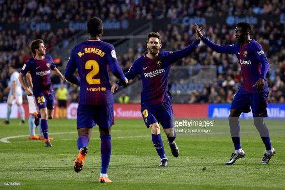 Para chegar na final da Copa do Rei, os catalães deixaram para trás os times do Real Murcia, Celta Vigo, Espanyol e por último o Valencia.