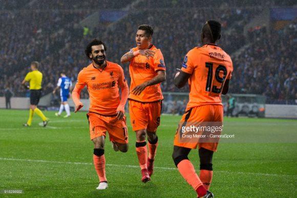 Juntos, Mohamed Salah, Roberto Firmino e Sadio Mané já marcaram 23 gols pela Champions League, sendo oito do egípcio, oito do brasileiro e sete do senegalês.