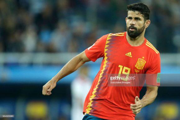 O brasileiro naturalizado espanhol, Diego Costa, é o artilheiro da Espanha na Copa do Mundo com três gols em três jogos disputados.