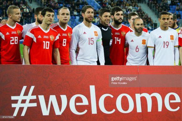 Este será o primeiro encontro entre espanhóis e russos válido por uma Copa do Mundo.