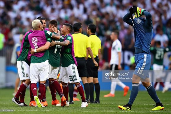 A derrota para o México foi a segunda da Alemanha em estreias por Copas do Mundo. A única vez que este fenômeno havia acontecido, foi no Mundial de 1982, quando os alemães perderam da Argélia, porém consagraram-se campeões.
