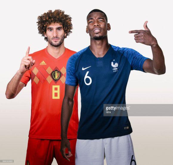Dos 46 convocados entre França e Bélgica, trinta atletas nasceram em outros países, sendo 19 pelo lado dos franceses e onze dos belgas.