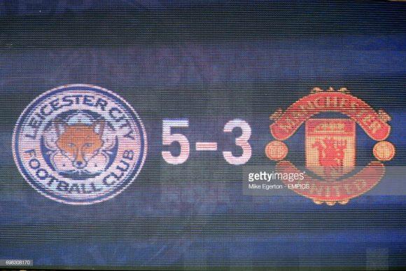O último triunfo do Leicester sobre o Manchester United, aconteceu em setembro de 2014, quando os Foxes derrotaram os Red Devils por 5 a 3 no King Power Stadium.
