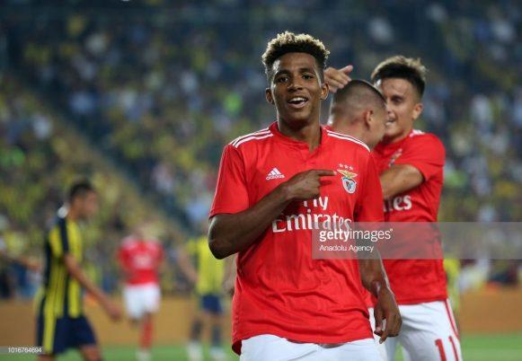 O jovem Gedson Fernandes de 19 anos de idade, foi o grande destaque do Benfica na vitória diante do Fenerbahce em Istambul.
