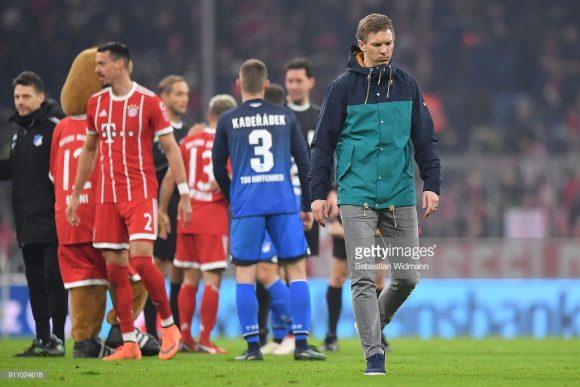 O Hoffenheim jamais derrotou o Bayern Munique na Allianz Arena.