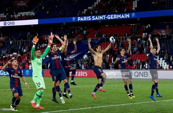 Embora tenham sida disputadas apenas cinco rodadas pela Ligue 1, o PSG já lidera a liga com cinco pontos de vantagem sobre o vice-colocado, Olympique Marseille.