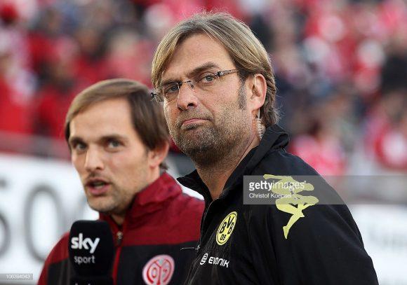 A cria e o criador: Jurgen Klopp e Thomas Tuchel iniciaram as suas carreiras no Mainz e passaram pelo Borussia Dortmund, antes de trabalharem fora da Alemanha.
