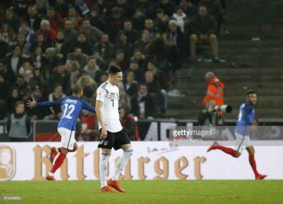 As últimas quatro visitas da França a Alemanha, terminaram com três vitórias e um empate dos franceses.