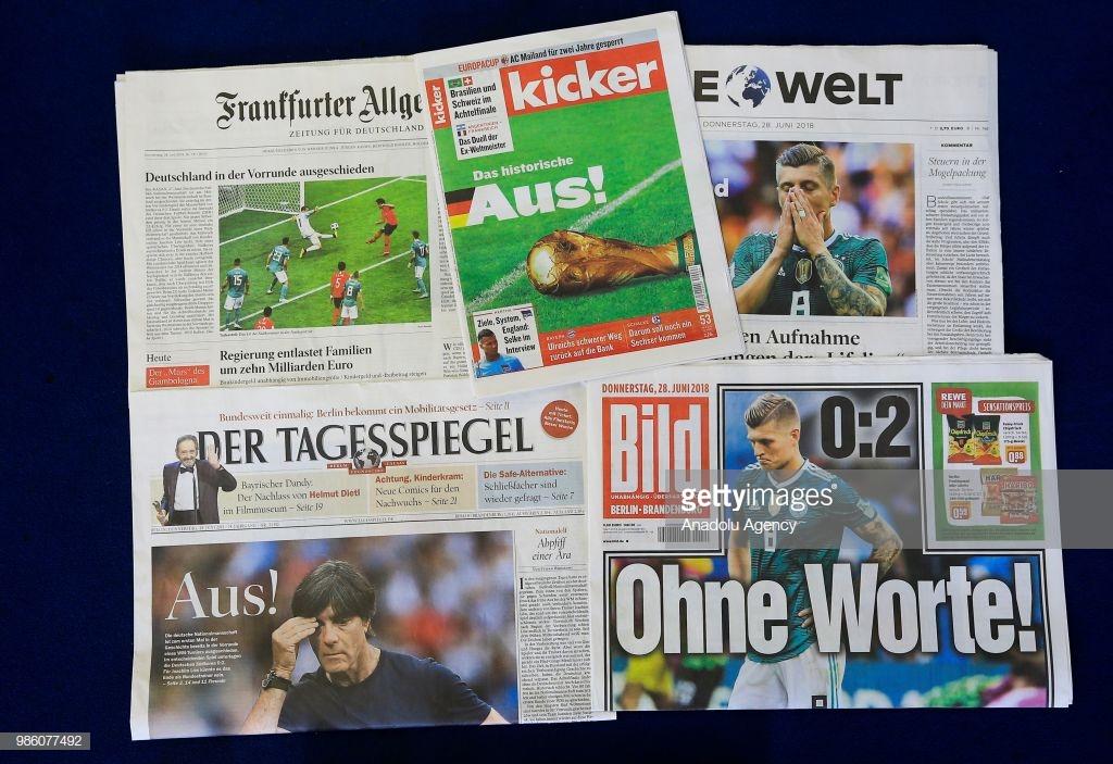 Desde 1938, a Alemanha não era eliminada ainda na fase de grupos de uma Copa do Mundo. Isso prova que o Mundial de 2018 foi um pesadelo na vida dos alemães.