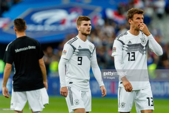 Em onze jogos disputados este ano, a Alemanha contabiliza seis derrotas, dois empates e três vitórias.