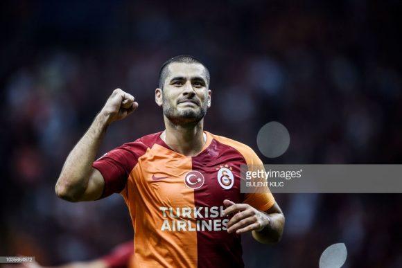 O atacante Eren Derdiyok é o artilheiro do Galatasaray na Super Lig com quatro tentos marcados até aqui.
