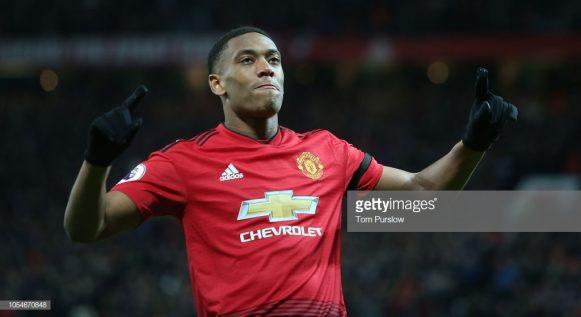 O atacante Anthony Martial marcou cinco gols nos últimos cinco jogos disputados. Não à toa, o atacante francês vive o seu melhor momento desde que chegou ao Manchester United em 2014.