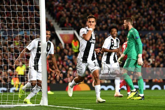 Na semana retrasada, o gol de Paulo Dybala garantiu a vitória da Juventus sobre o Manchester United em pleno estádio Old Trafford.