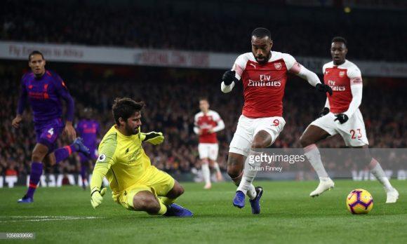 O tento de Alexandre Lacazette sobre o Liverpool no último sábado, estendeu a invencibilidade do Arsenal para 14 partidas.
