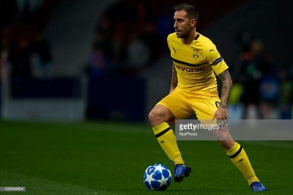 O espanhol Paco Alcácer divide a artilharia da Bundesliga ao lado de Sébastien Haller, Luka Jovic e Thorgan Hazard, todos com 7 tentos marcados.