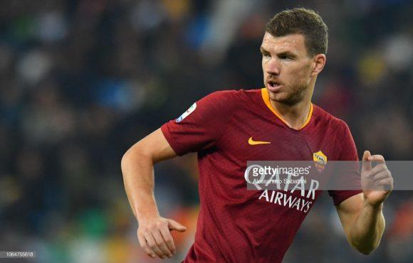 O bósnio Edin Dzeko é o artilheiro da Roma na Champions League com 5 tentos marcados.