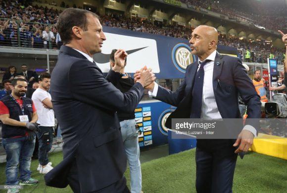 Este será o décimo embate entre Massimiliano Allegri e Luciano Spalletti, sendo que o técnico da Juve obteve quatro vitórias contra três do treinador da Inter.