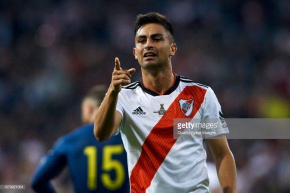 """Gonzalo """"Pity"""" Martínez foi o artilheiro do Superclássico ao longo do ano, com três gols marcados em cinco dérbis disputados."""