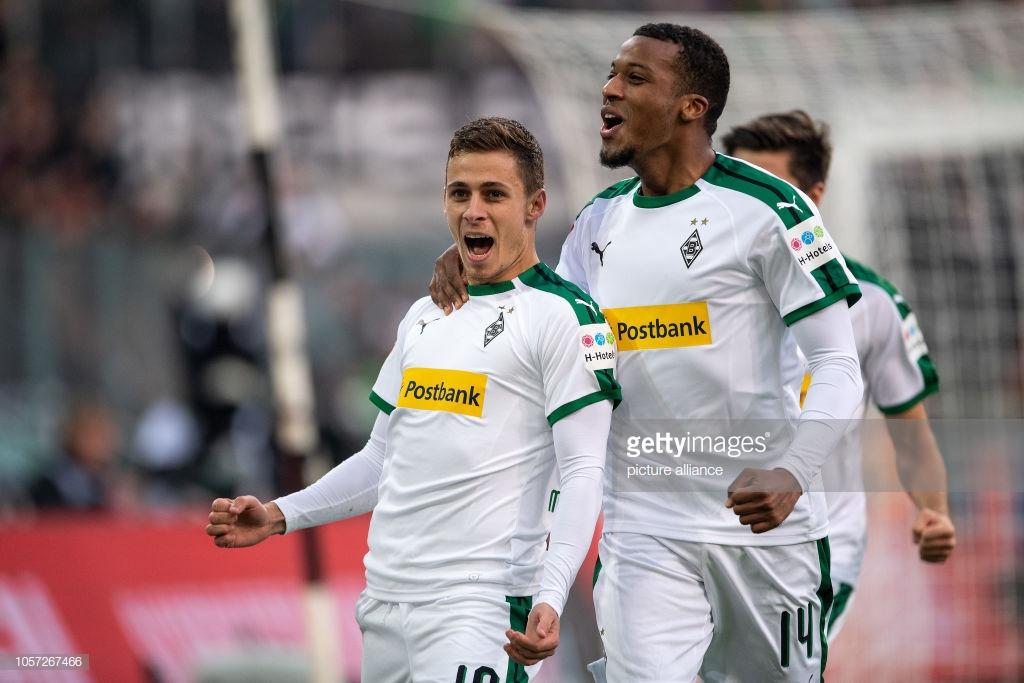 Alassane Pléa e Thorgan Hazard dividem a artilharia do Borussia Monchengladbach na Bundesliga com 9 tentos cada um.