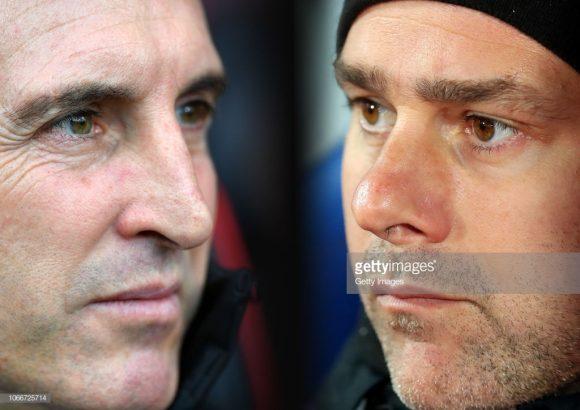 Este será o primeiro encontro entre Unai Emery e Mauricio Pochettino na Inglaterra. Antes, eles haviam se enfrentado na época em que trabalhavam no futebol espanhol (Emery tem quatro vitórias contra duas de Pochettino)..