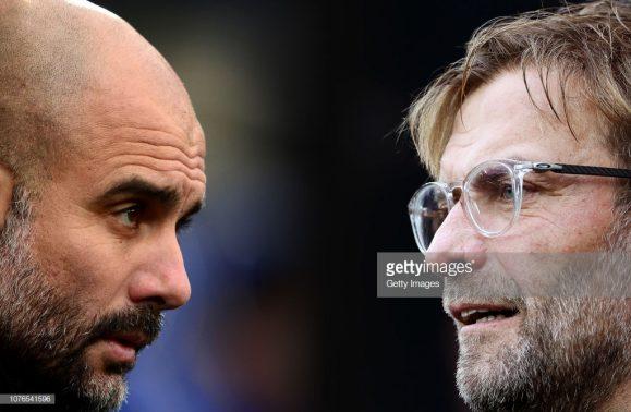 Este será o 16º embate entre Pep Guardiola e Jurgen Klopp, sendo que o treinador do Liverpool obtém oito vitórias contra cinco triunfos do técnico do City.