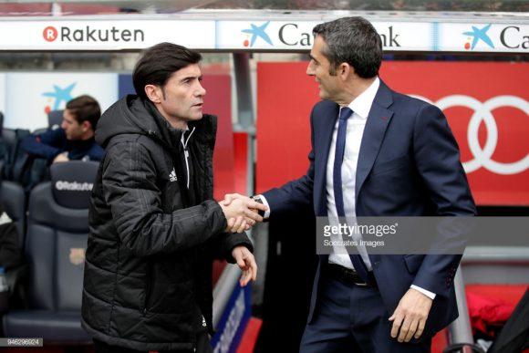 Este será o 17º duelo entre Marcelino García Toral e Ernesto Valverde, sendo que o treinador do Barcelona obteve oito vitórias contra apenas três do técnico do Valencia.