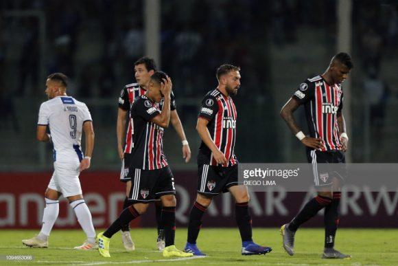O São Paulo sofreu 19 eliminações em torneio mata-matas, desde seu último título conquistado em 2012 (Copa Sul-Americana).