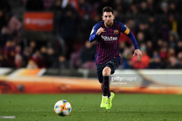 Lionel Messi é o artilheiro do Barcelona na La Liga, com 19 tentos marcados.