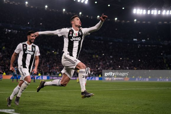Cristiano Ronaldo marcou seu oitavo hat-trick na carreira pela Champions League.