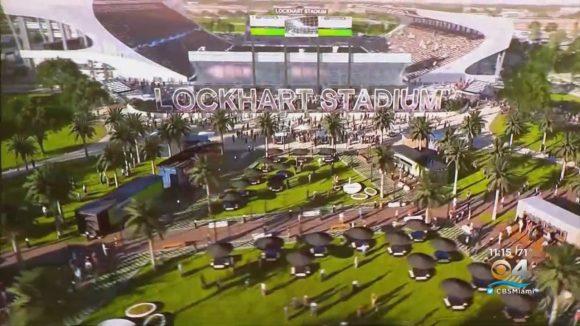A imagem acima projeta como ficará o Lockhart Stadium, a casa do Inter Miami nas duas próximas temporadas.