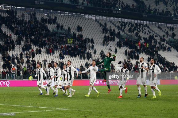 Restando 13 rodadas para o término do Calcio, a Juventus continua sendo a única equipe invicta, considerando as cinco principais ligas europeias.