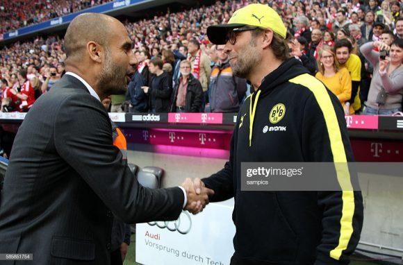 A última vitória do Borussia sobre o Bayern em Munique, pela Bundesliga, aconteceu em 2014, época em que os auri-negros eram comandados por Jurgen Klopp e os bávaros por Pep Guardiola.