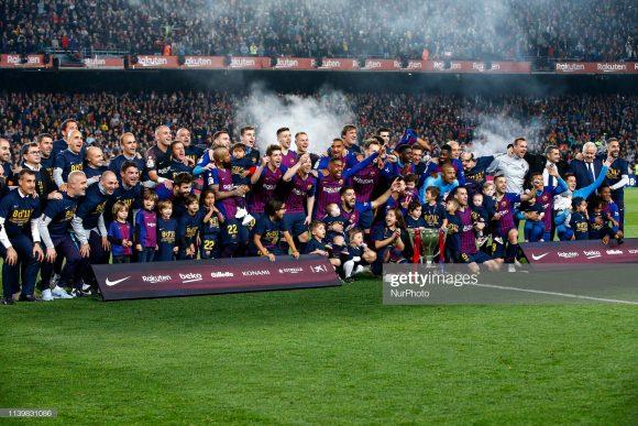 O Barcelona conquistou a La Liga pela oitava vez nos últimos onze anos, provando uma vez mais, a sua hegemonia no futebol espanhol.