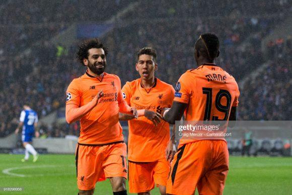 Salah, Firmino e Mané lideram a artilharia do Liverpool na Champions League com 4 gols cada um. O infernal trio dos Reds estará em ação na tarde desta quarta-feira.