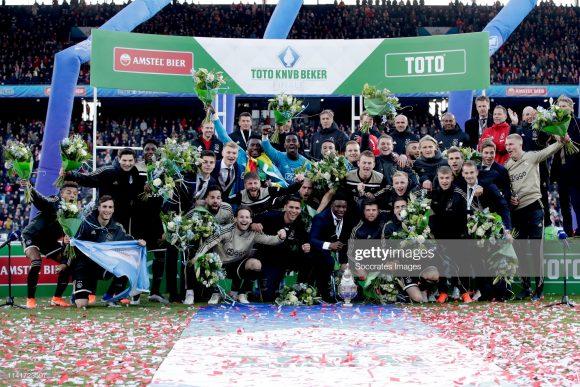 No último domingo, o Ajax sagrou-se campeão da Copa da Holanda pela 19ª vez na história. Os Godenzonens são disparados, o maiores campeões do torneio, dado que o Feyenoord aparece em seguida, com treze títulos conquistados.