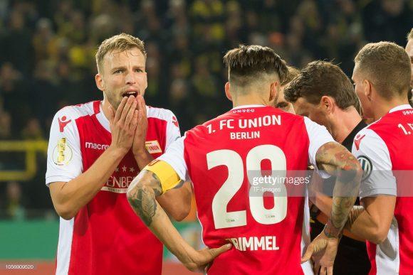 O Union Berlin foi uma verdadeira pedra no sapato do Borussia Dortmund, que só conseguiu vencer os berlinenses no último minuto da prorrogação, com o gol salvador de Marco Reus.