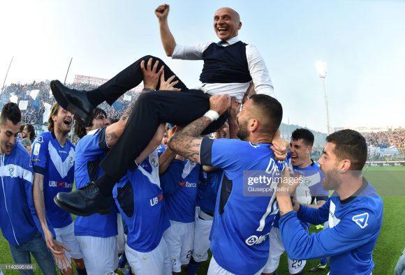 O treinador Eugenio Corini é um dos principais responsáveis pelo regresso do Brescia à Serie A. Nos 31 jogos em que esteve à frente dos biancoazzurris até aqui, o técnico registra 62% de aproveitamento.