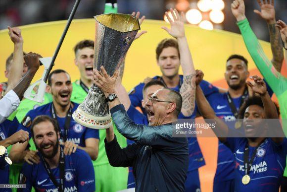O título de Europa League foi o primeiro da carreira de Maurizio Sarri como treinador.