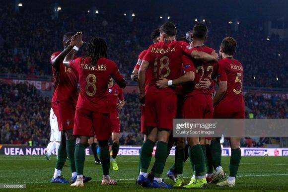 Seleção de Portugal, finalista da Liga das Nações.
