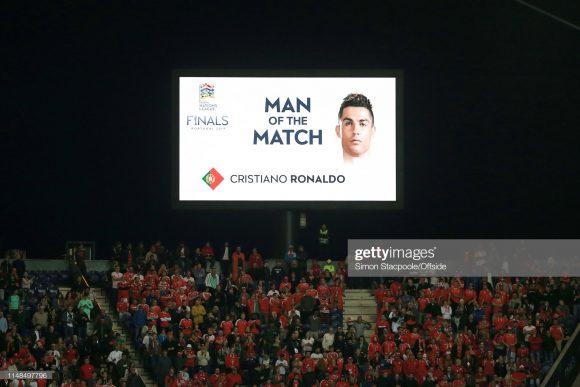 O hat-trick marcado diante da Suíça, foi o quinto de Cristiano Ronaldo pela seleção de Portugal.